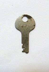 Antique Steamer Trunk Key Cut For Corbin T136 T 136 Corbin Flat Key T 136
