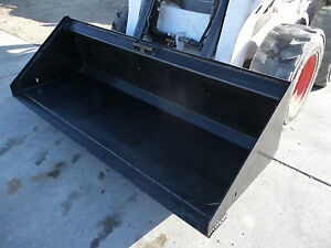 80 Low Profile Smooth Bucket Attachment General Purpose Fits Skid Steer Loader