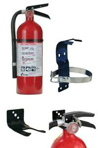 Emergency Fire Extinguisher W3 Mounting Bracket Home Office Dry Chemical Rv Dot