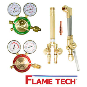 Flame Tech Ftvhd a1 Heavy Duty Oxy acetylene Cutting Torch Contractor Kit Victor