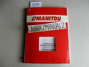 Manitou Msi 20 25 30 D Buggie 121128 203025 Operators Manual