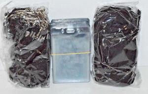 240 Black 36 Lanyards And 250 Vertical Plastic Badge Holder Clear Lot