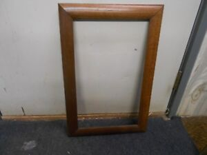 23 1 2 By 15 1 2 Vintage Solid Oak Wooden Picture Mirror Frame Holds