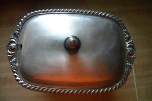 Friedman Silver Co Silver Plate 8 1 2 Inch Covered Serving Dish