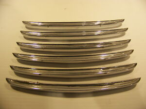 1963 Chrysler New Yorker Fender Louvers Trim Oem 2276520 6 Pcs