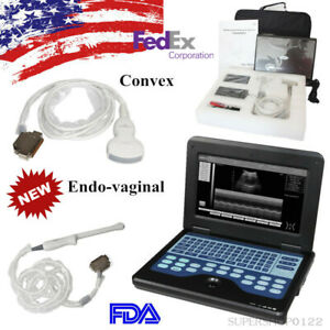 Usa Fda Portable Laptop Ultrasound Scanner System Convex transvaginal 2 Probes