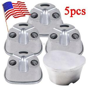 5pc Usa Dental Lab Aluminum Duplicating Flasks Compressor For Resin Teeth Tools