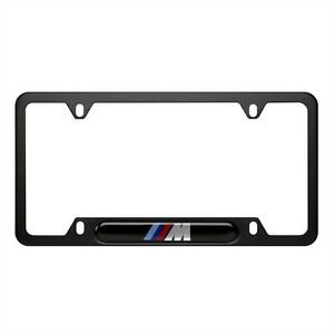 Bmw Oem M Logo Black Staineless Steel License Plate Frame Single 82120010404