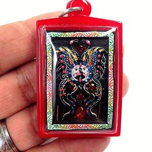 Real Kruba Krissana Sacred Paint Bumblebee Inlaid With Gems And Takrut Glamour