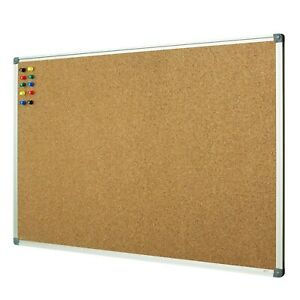 Lockways Cork Board Bulletin Board Double Sided Corkboard 36 X 24 Notice Bo
