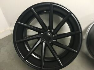 Four 20 Satin Black C Style Rims Fits Staggered Honda Civic Accord 5x114