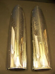 1955 Chrysler Quarter Panel Top Tail Light Trim Oem Pair 300 New Yorker Windsor