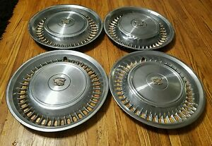 Set Of 4 Oem 1971 72 Cadillac Calais Deville Fleetwood 15 Hubcaps Wheel Covers