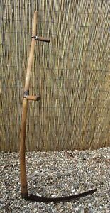 Farm Ranch Scythe Snath 24 Sickle Blade 60 5 Wooden Handle Country Display