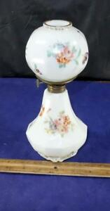 Lovely Pairpoint Paneled Dresden Floral Miniature Lamp