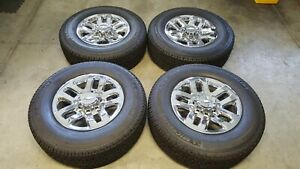 Chevy Gmc Oem 18 Wheels And Tires 2500 3500 Hd Truck Silverado Sierra