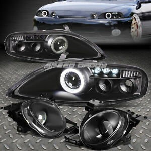 Black Halo Projector Headlight led Drl high Beam Lamp For 92 00 Z30 Sc300 sc400