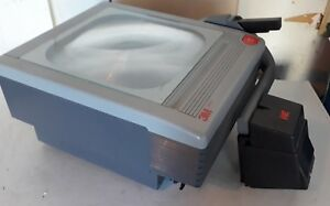 3m 9060 Folding Transparency Overhead Projector With Good Bulb Tested Works