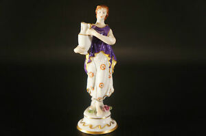 Antique Dresden Volkstedt 1762 Porcelain Figurine Lady With Jug E 12043