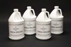 Omega Descaler Four 1 Gallon Ultrasonic Rust Corrosion Cleaning Soap Solution