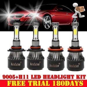9005 h11 Osram Led Headlight Kit 2400w Light Bulbs Hi Lo Beam 4 side 6000k White