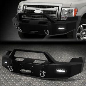 For 09 14 Ford F150 Rock Crawler Front Bumper W Winch Plate Led Fog Light D Ring