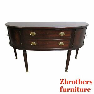 Councill Craftsman Furniture Flame Mahogany Demi Lune Sideboard Buffet Console