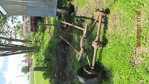 Vintage Model T Frame Rear End Springs Rims Tie Rods Look
