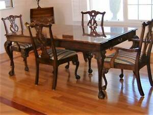 Hendredon Mahogany Dining Table And 6 Chairs 3000 00