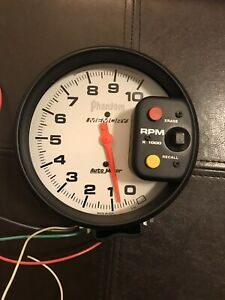 Autometer Tachometer 5 Rpm White Face Phantom Tach