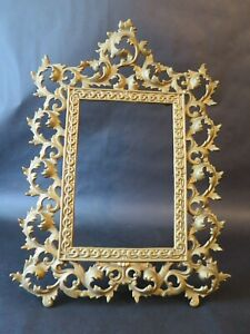 Vintage Solid Brass Ornate Picture Photo Frame 15 X11
