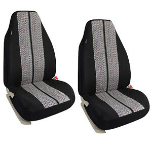 Universal High Back 2 Front Seat Covers Fit For Car Truck With Velcro Opening