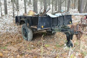 Heavy 6 X 8 Single Axle Military Trailer With Air Brakes
