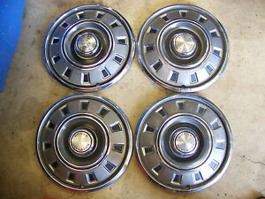 1968 69 Dodge Dart Hubcaps Wheel Covers 14 4