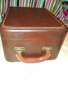 Vintage Excelsior Trunk Storage Case Leather With Lock No Key