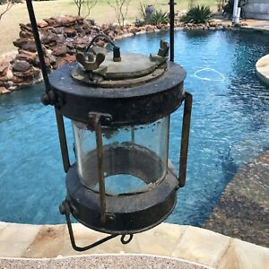 Antique Navigation Nautical Ships Light Lantern Vintage Large Maritime Lamp
