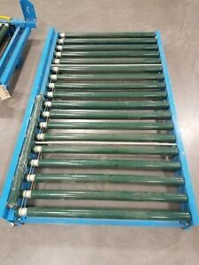 Hytrol Rubber Coated Power Roller Conveyor With Lift Gate