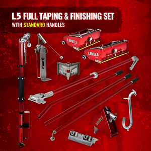 Full Drywall Taping Finishing Set W Automatic Taper Flat Boxes Level 5 Tools