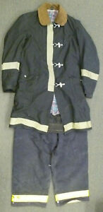 Globe Morning Pride Black Firefighter Turnout Set Jacket 40x34 Pants 38x29 S50