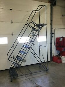 Ballymore 9 Step Rolling Safety Ladder Sw 093214