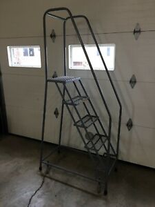 5 Step Cotterman Rolling Staircase Ladder