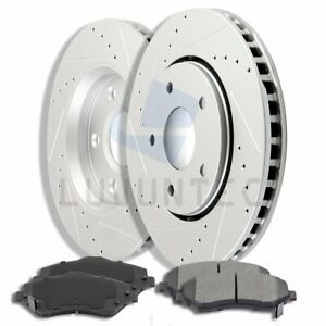 Front Brake Discs Rotors With Ceramic Pads For 2008 2016 Chrysler Town