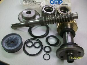 Omp Italy Cold Saw Tube Cutting Machine Parts Lot Worm Screw Gear Shaft Dake