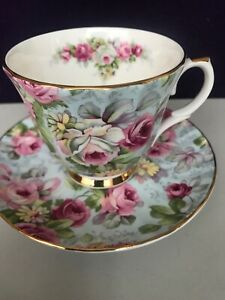 Gorgeous Allyn Nelson Collection England Fine Bone China Roses Tea Cup