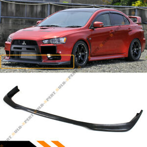 FOR 2008 2015 MITSUBISHI EVO X 10 MR RAL STYLE FRONT BUMPER LIP SPOILER SPLITTER $78.99