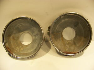 1958 Dodge Power Wagon Headlight Buckets Rings Oem Truck Panel