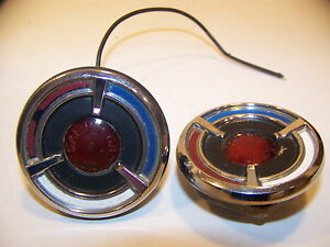 1968 Chrysler 300 Side Cornering Marker Lights Pair Oem