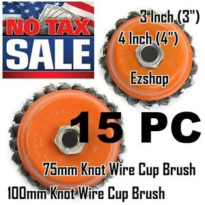15 Wire Cup Brush 3 75mm 4 100mm For 4 1 2 115mm Angle Grinder Twist