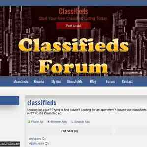 Custom Made Professional Classifieds Ads Website Business With Forum Adsense