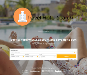 Travel Hotel Search Website Online Business With Hosting